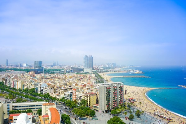 Barcelona, stunning architecture and a beautiful beach to cool off by.
